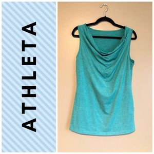 ATHELTA cowl neck tank top